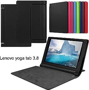 Asng Lenovo Yoga Tab 3 8 Case - Slim Folding Stand Cover Smart Case for 2015 Lenovo Yoga Tab3 8-Inch Tablet (Black)