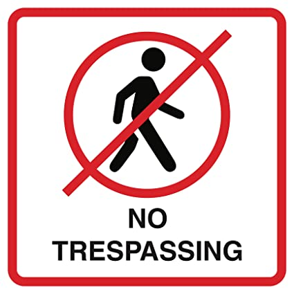 picture about Printable No Trespassing Sign titled : No Tresping Print No Particular person Going for walks Imagine