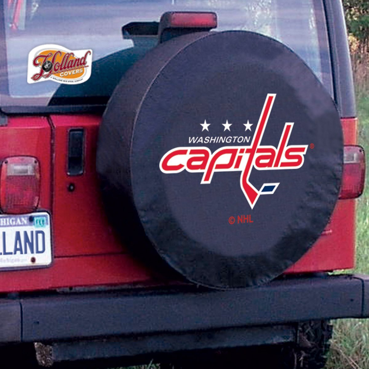Washington Capitals HBS Black Vinyl Fitted Spare Car Tire Cover Holland Bar Stool Co