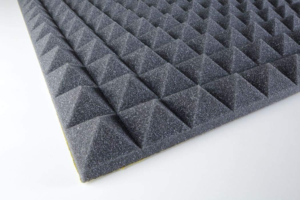 Akustikschaumstoff Pyramidenschaumstoff PU piramide 30mm selbstklebend Anthrazit 1000x500x30mm 0,5m2