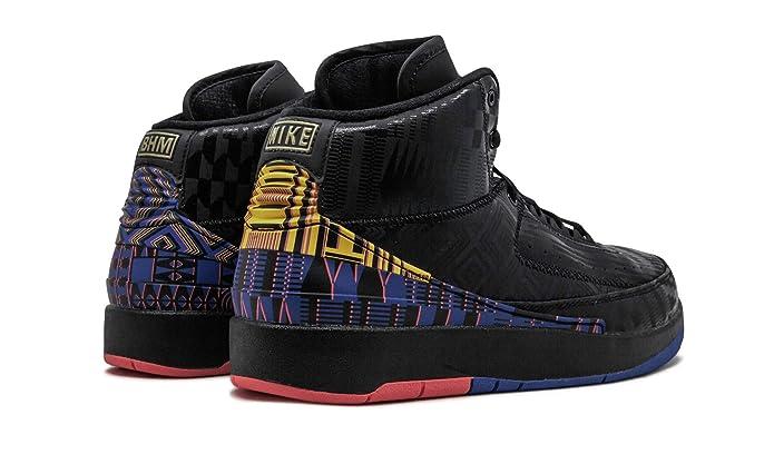 new styles 760f3 bff7e Amazon.com   Jordan Air 2 Retro BHM (GS) (Black Metallic Gold-Black, 6.5Y)    Basketball