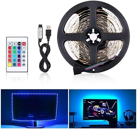 5V USB 5050 RGB LED Streifen Licht Wasserdicht Band TV Hintergrund Lichterkette