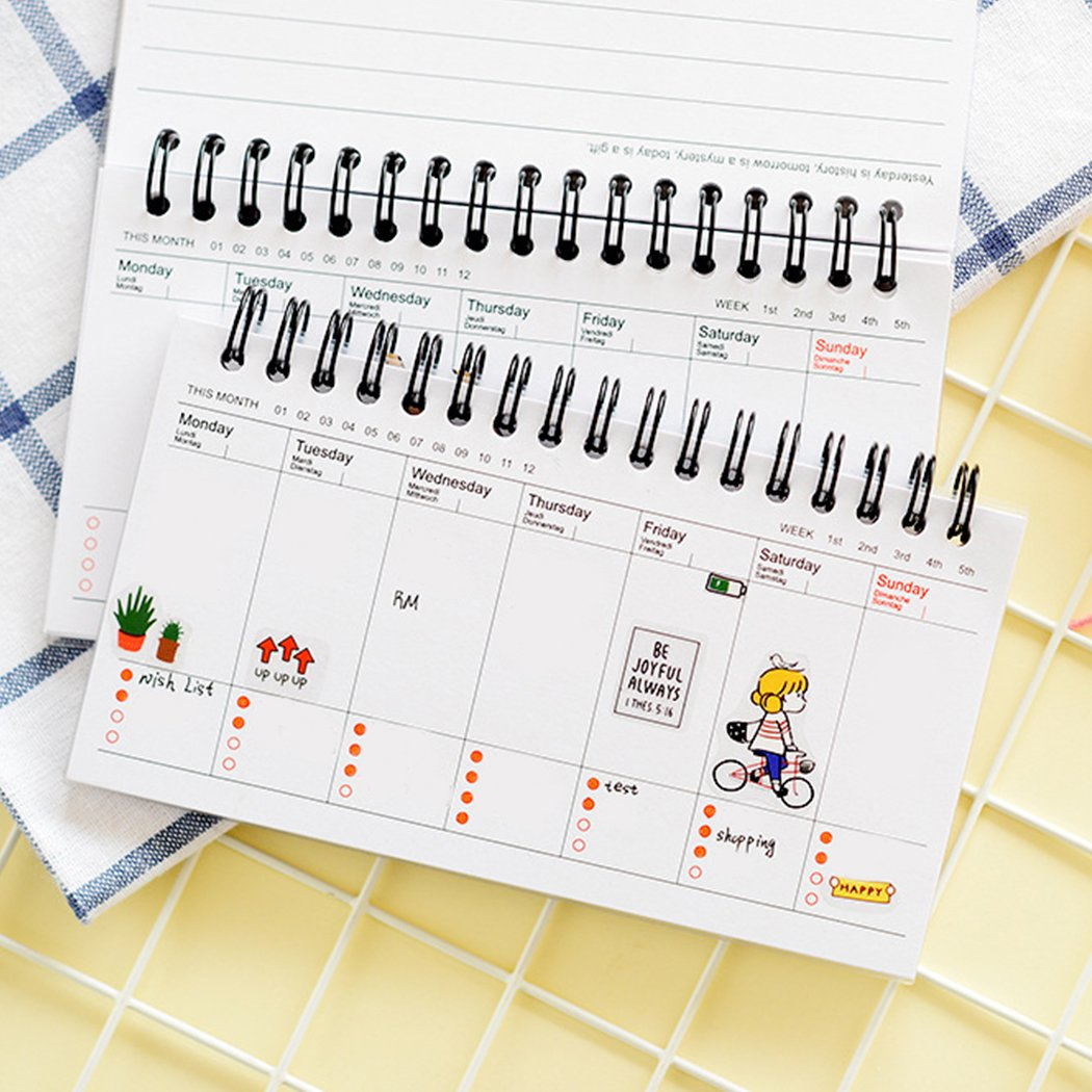 picture about Daily Planner Notebook titled : Agenda Laptop, Coxeer Weekly Table Calendar