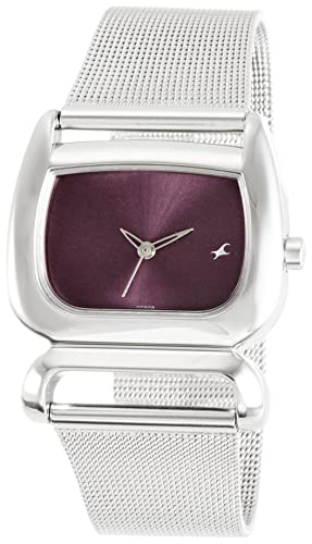 2. Fastrack Fits & Forms Analog Purple Dial Watch