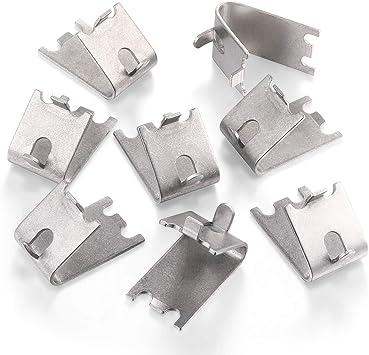10Pcs sliver 35x25x8.5mm Freezer Brackets Alum Hook for Refrigerator Shelf Clips
