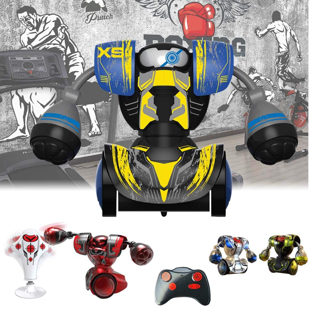 Cherishly RC Battle Boxing Robot Toys – Telecomando a infrarossi Humanoid Joystick Fighting Robot, Real Boxing Fight Esperienza Nero