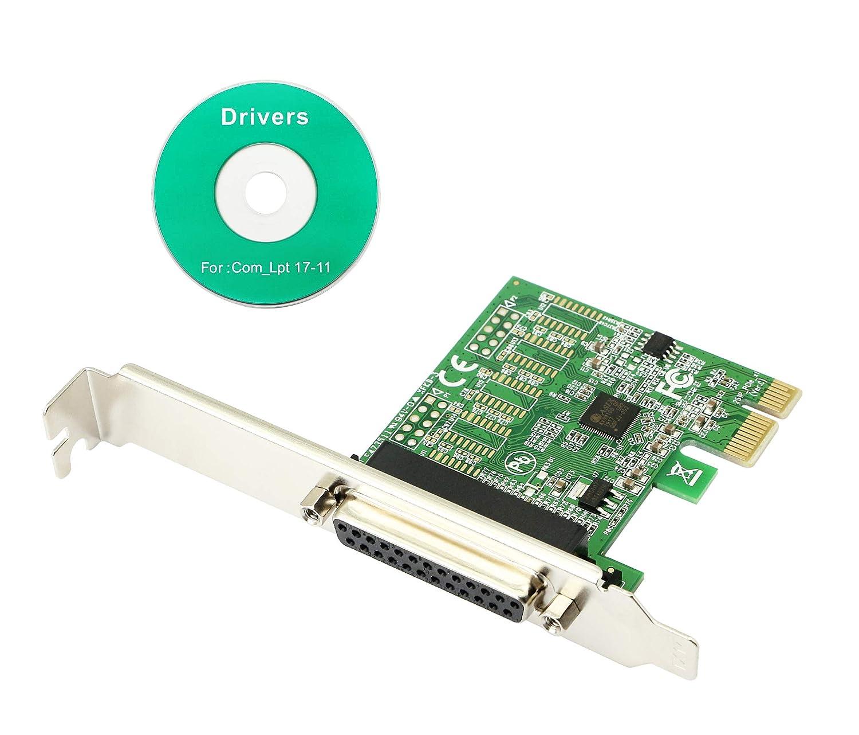 CERRXIAN Adaptador de Tarjeta de expansión PCIe de 1 Puerto PCI ...