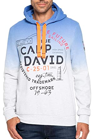 e11feebf4e44 Camp David Sweatshirt CCB-1811-3070 Signal Blue White Melange Future of  Sailing