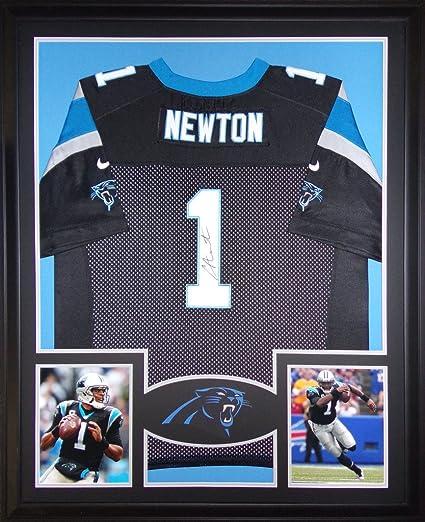 Cam Newton Carolina Panthers Autograph Signed Custom Framed Jersey Black  Nike GTSM Certified 86ee4aa35