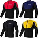 Didoo Mens cycling jersey, Thermal long sleeve, Full Zipper, Fleece, Lightweight, Breathable Winter Warm Cold Wear High Visibility Tops MTB Mountain Bike Running Outdoor Sports