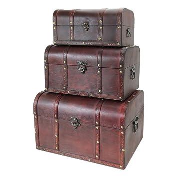 Baúl HMF 6406, cofre del tesoro, caja de madera Portugal, idea para regalo