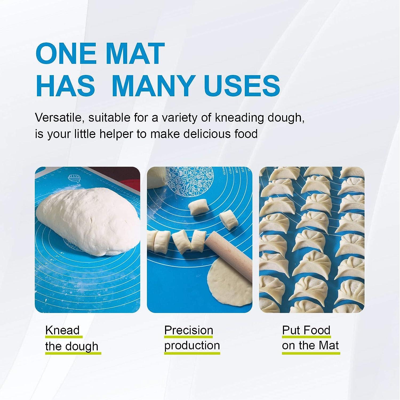 Estera para Hornear de Silicona de Masa de Pizza de Pasteler/ía Silicone Baking Bakeware Cooking Mat(64*45cm) TQmate Tapete Silicona Amasar