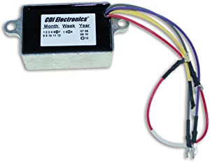 CDI Electronics 193-4476 Johnson/Evinrude Voltage Regulator - 2/3/4 Cyl. 10 Amp (1992-2005)