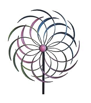 Wind Cilindro de XL jardín Mallorca, doppelläufig, metal, 61 x 210 cm