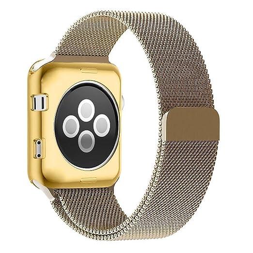 5 opinioni per Cinturino e Custodia Apple Watch 2 42mm, Zyra Cinturino in Acciaio Inossidabile
