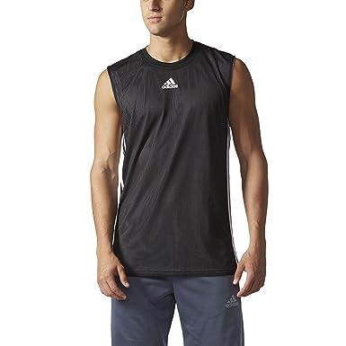 adidas Camiseta de Baloncesto Doble UP Tank Top, Negro/Blanco ...