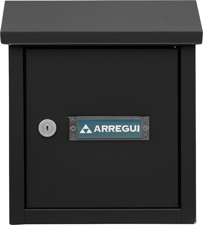 Negro texturado tama/ño S Arregui V4094 Buz/ón Recogecartas de Acero DIN A5