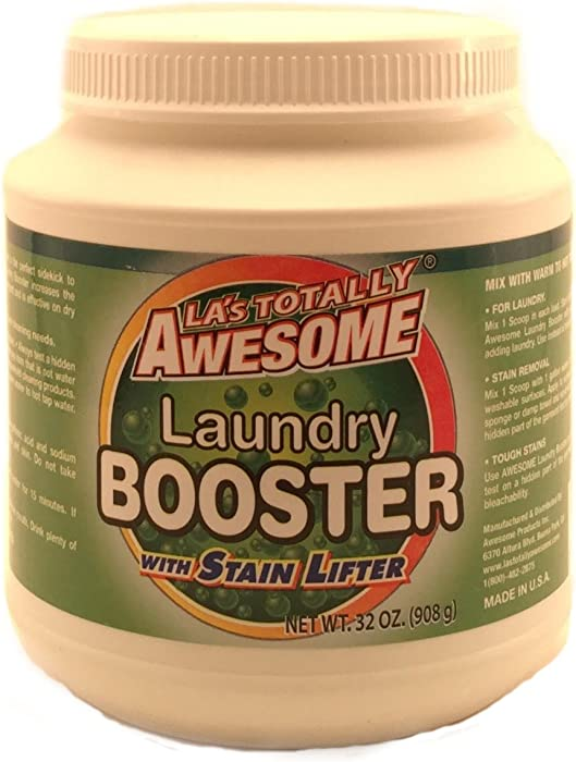 La's Totally Awesome Laundry Booster with Stain Lifter - Helps Remove Tough Stains from your Clothing, Upholstery and Carpet. Great for RV, Travel or Everyday use! - Made in the USA.