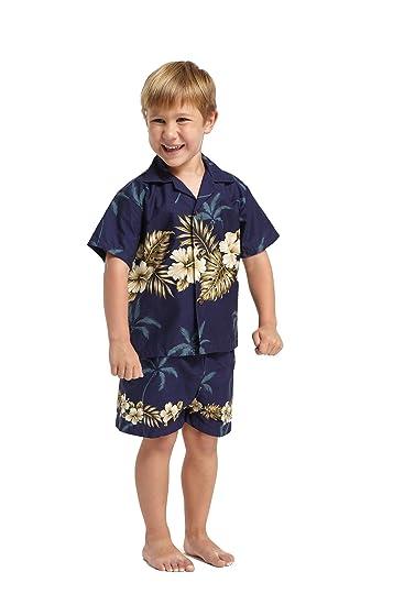 Ensemble Aloha Hawaï Short Luau Garçon À Chemise Et Fabriqué Cabane wkN80OPnX