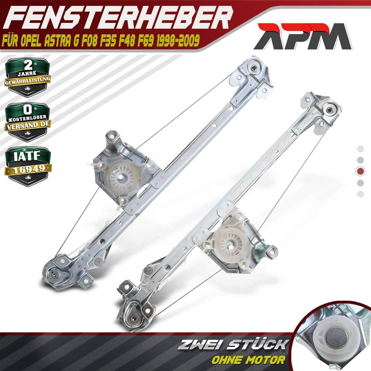 Frankberg 2X Fensterheber Ohne Motor Hinten Links und Rechts f/ür Astra G CC Caravan Stufenheck F48/_ F08/_ F35/_ F69/_ 1998-2009 5140015