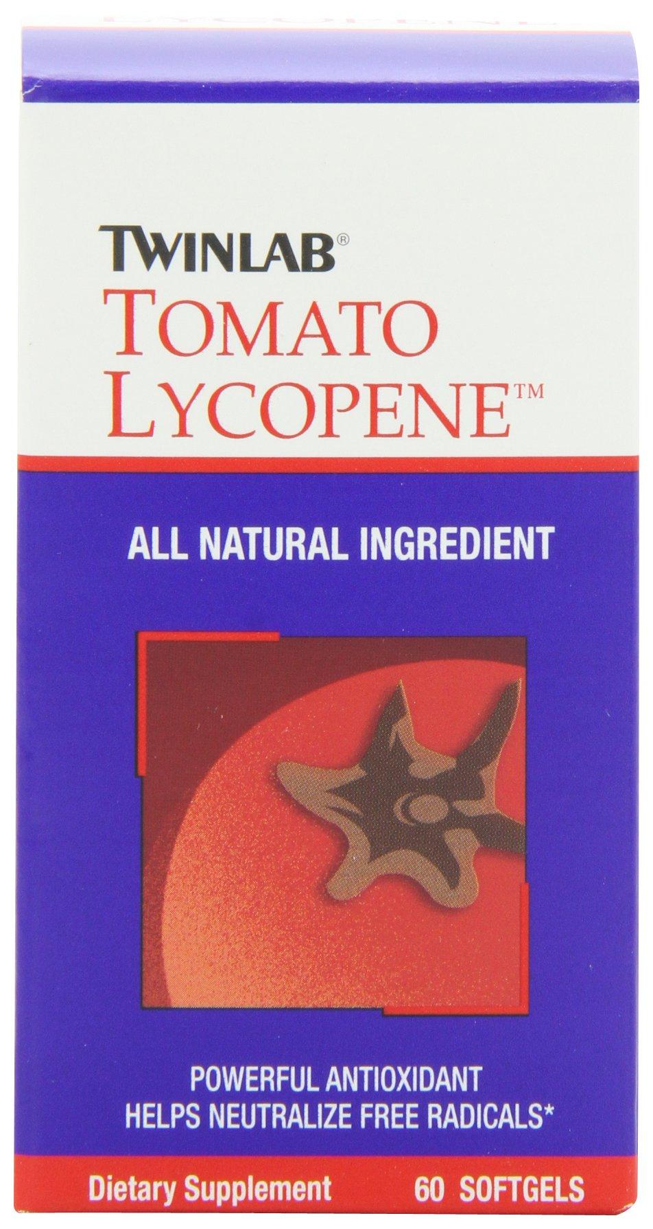 Twinlab Tomato Lycopene, 60 Softgels (Pack of 2)