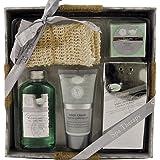 Gloss! Coffret de Bain Spa Therapy Eucalyptus - 5 Pièces, Coffret Cadeau-Coffret de bain