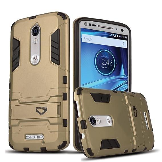 sports shoes fbca5 cd882 Motorola Droid Turbo 2 case, Verizon XT1585 Case, Digital4all, Ultra Slim  Droid Turbo 2 Armor Case for Motorola Droid Turbo 2 [Shockproof Case] -  Gold ...