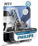 Philips 12362WHVB1 Whitevision Ampoule Automobile Effet Xénon 4300K H11 12V 55W