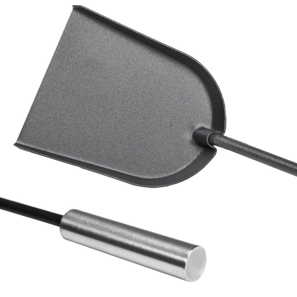 TecTake 400592 Set de 5 Outils pour Chemin/ée Poign/ées en Acier inoxydable bross/é R/ésistants /à la Chaleur et durables