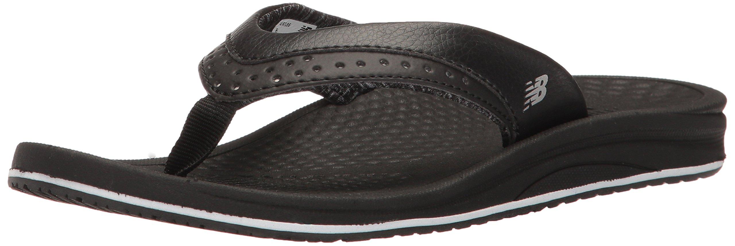 New Balance Women's Renew Thong Sandal, Black, 8 B US