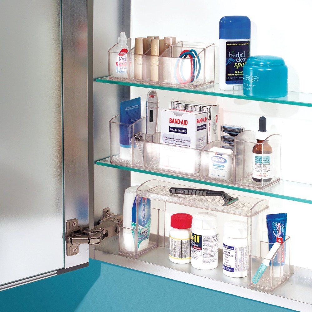 Bon Amazon.com: InterDesign Med+   Makeup And Medicine Cabinet High Rise  Organizer   Clear   12 X 3 X 5.25 Inches: Home U0026 Kitchen