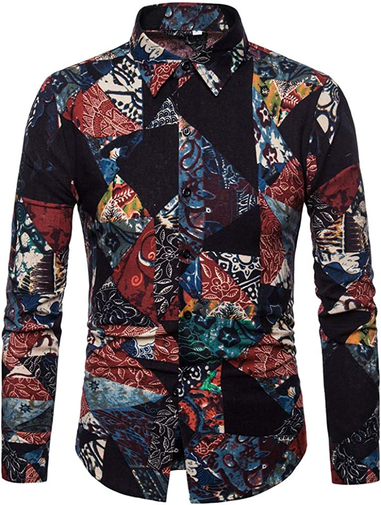 Oliviavan Camiseta para Hombre, Moda Camisas Urbanas Hombre Manga Larga Camiseta de Solapa de impresión: Amazon.es: Ropa y accesorios