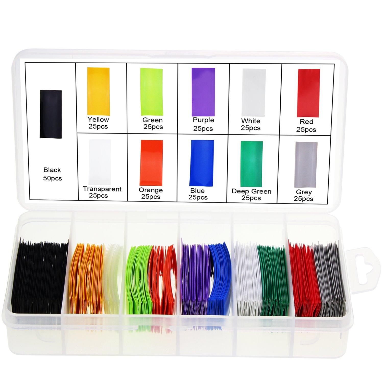 AAA Battery 9 Colors Ocr Flat PVC Heat Shrink Tubing Battery Wrap for 1x AAA Battery 9 Colors 300PCS