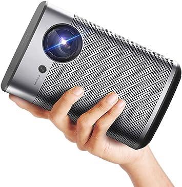 Opinión sobre XGIMI Halo Proyector Android TV Full HD Mini 3D 1080P Proyector Inteligente 800 ANSI Lúmenes portátil WiFi Altavoces Bluetooth Harman / Kardon Pequeño Proyector de Cine en Casa Proyector de Películas