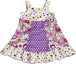 product image for Cheeky Banana Little Girls Spring/Summer Jumper/Dress Purple Dot
