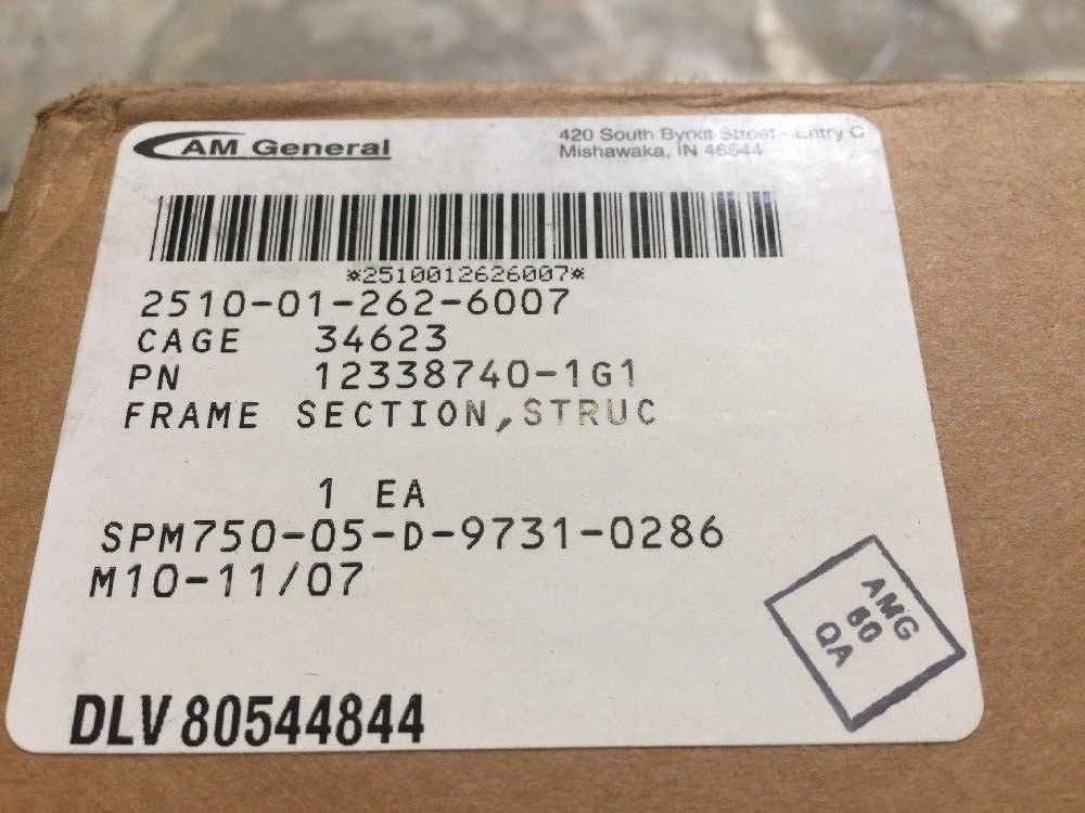AM General Frame Section Floor Beam 12338740-1G1 Military Humvee Hmmwv by AM General LLC (Image #2)