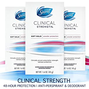 Secret Antiperspirant And Deodorant For Women, 1.6 Ounce (Pack of 3)