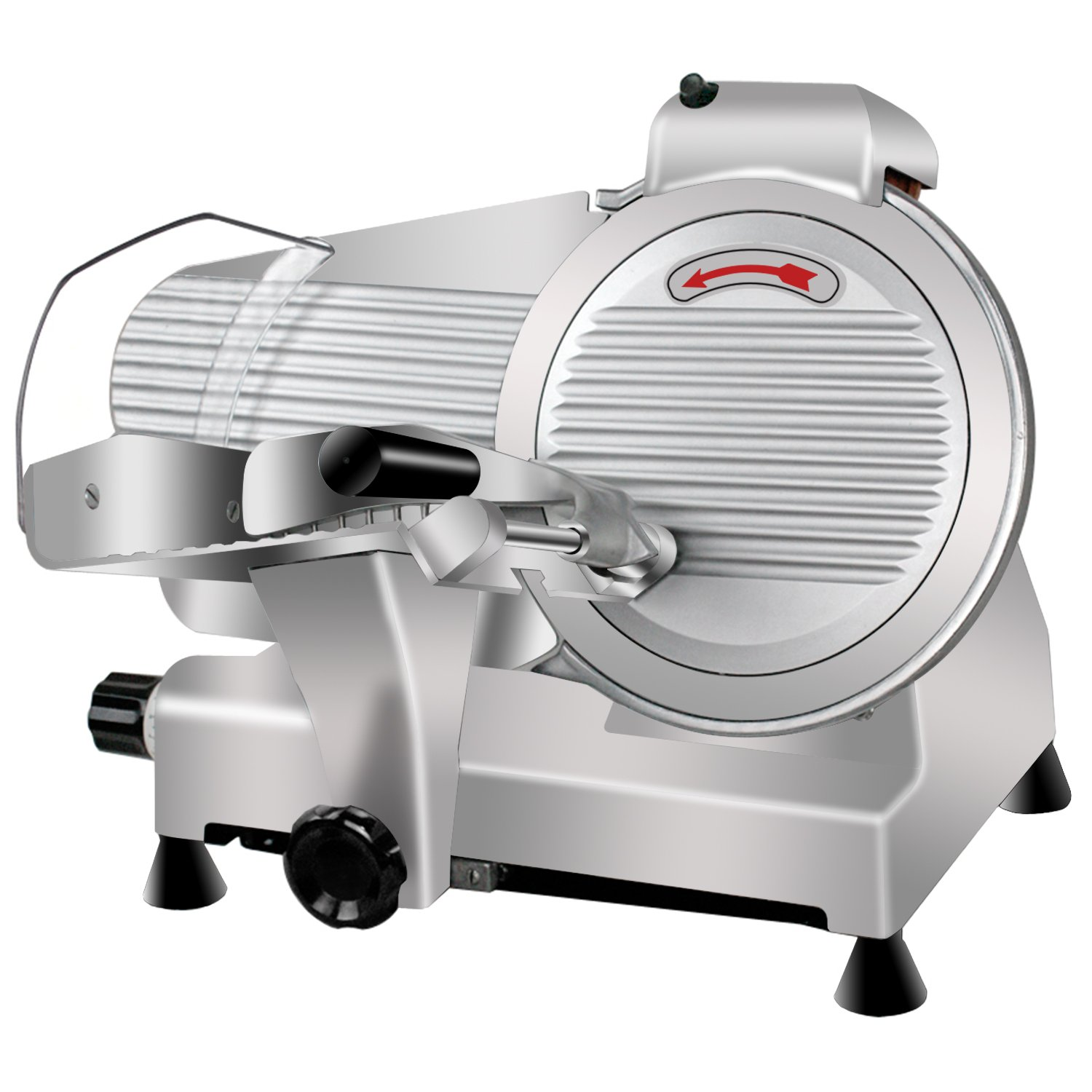 Super Deal Commercial Stainless Steel Semi-Auto Meat Slicer, Cheese Food Electric Deli Slicer Veggies Cutter by SUPER DEAL