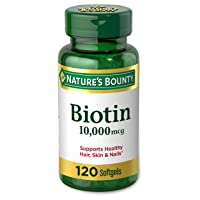 Nature's Bounty Biotin Supplement, Supports Healthy Hair, Skin, and Nails, 10,000...