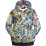 ecollection® Damen Unisex 3 Digital Print Fashion Hoodies Sweatshirts Tops