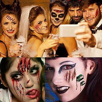 Scars Tattoos, Halloween Tattoos Zombie Scars, Halloween Zombie Makeup Kit, Fake Blood Body