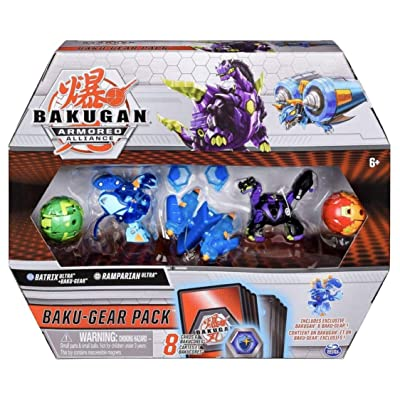 Bakugan Baku-Gear 4-Pack, Batrix Ultra with Baku-Gear and Ramparian Ultra, Collectible Action Figures: Toys & Games