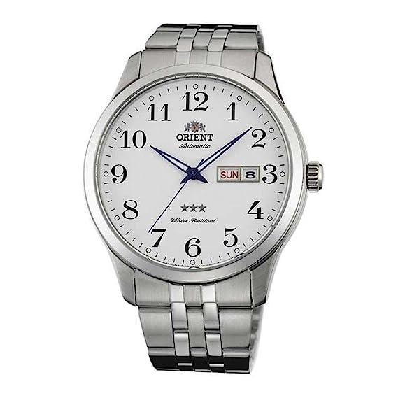 ORIENT RELOJ DE HOMBRE AUTOMÁTICO 43MM CORREA Y CAJA DE ACERO FAB0B002W9: Amazon.es: Relojes