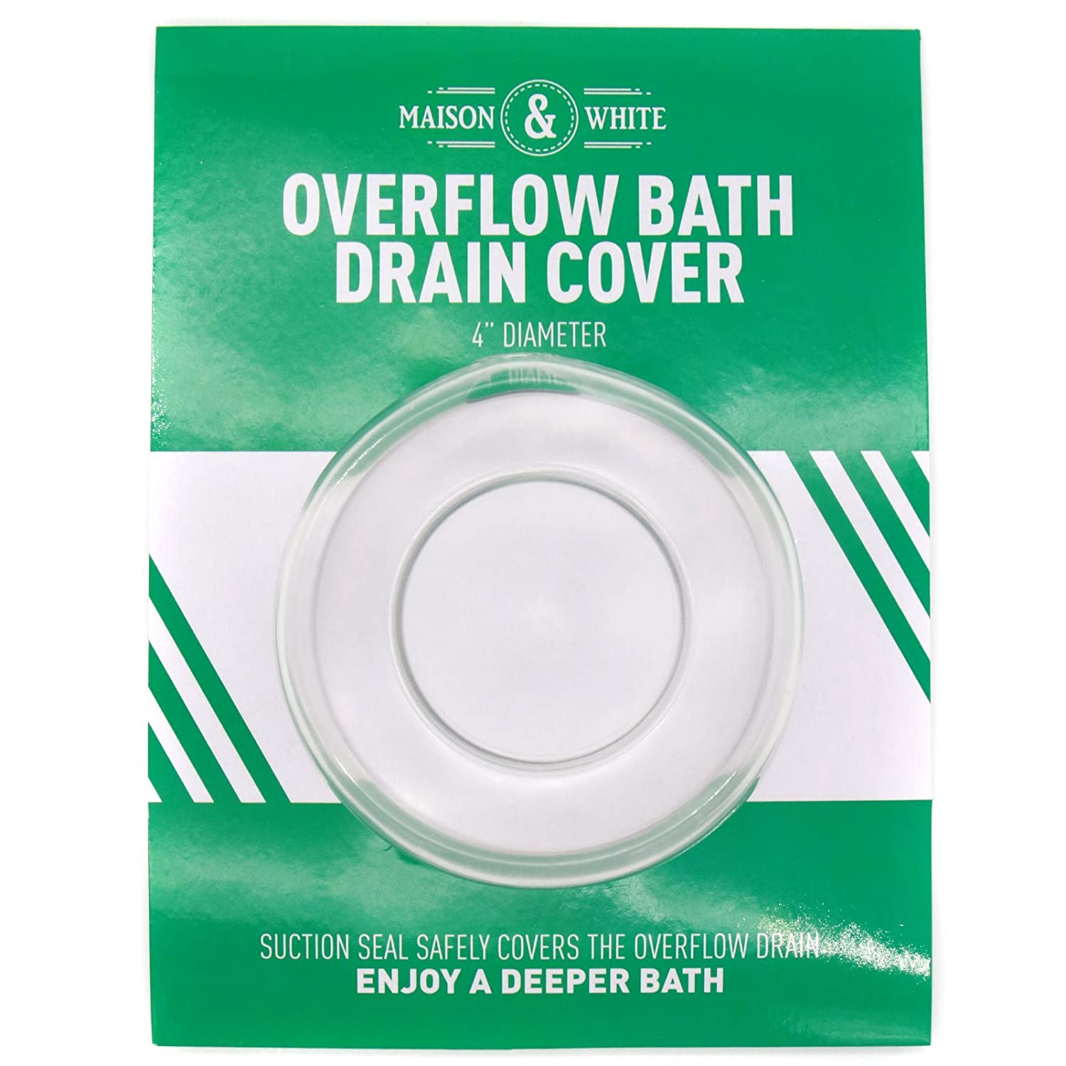 Bathtub Overflow Drain Cover | Safe Deeper Bath Plug | For a More Comfortable Bathing Experience | Universal Design for All Bath's | M&W Xbite