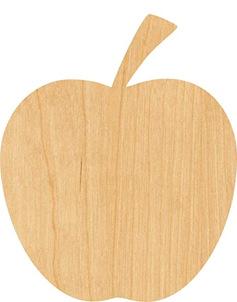 Amazon Com Apple Laser Cut Out Wood Shape Craft Supply