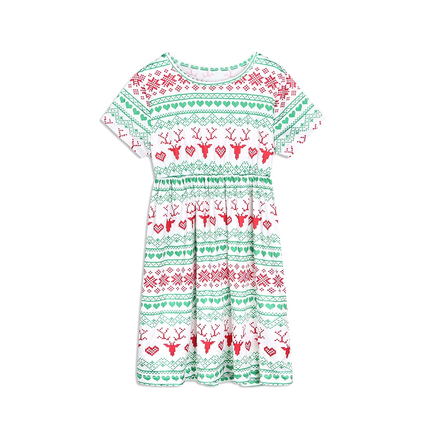 PatPat Matching Family Festival Pajamas Set Two Piece Short Sleeve Sleepwear Letter Printed Loungewear for Adult Girls Boys