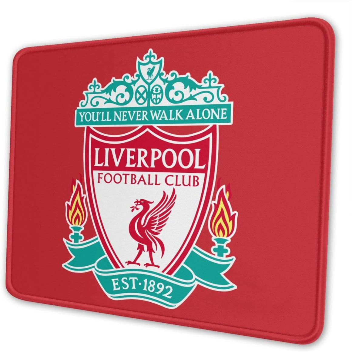 Liverpool F.C. Football Club Logo Football Club Mouse Pad for Laptops Office Computer Mouse Pad