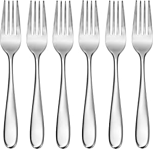 CraftKitchen Open Stock Stainless Steel Flatware Sets (Classic, Salad Forks Set of 6)