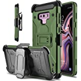 Tevero Hard Galaxy Note 9 Case, Kickstand [Heavy Duty Protection] Swivel Belt Clip Holster Full Body Protective Shockproof Phone Case Cover Compatible with Samsung Galaxy Note 9/SM-N960U (Army Green)