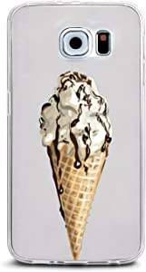 JewelryVolt Clear Phone Case for iPhone 4 or iPhone 4s Full Color UV Printed Food Summer Chocolate Ice Cream Cone
